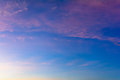 sky and clouds of heaven With sunset and colorful
