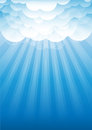 Sky with clouds vector illustration background Royalty Free Stock Photos