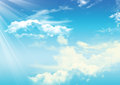 Sky cloudy background Stock Photography