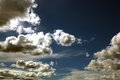 Sky with couds blue white clouds Royalty Free Stock Image