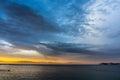 Sky at dawn sea and colors Royalty Free Stock Image