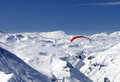 Sky gliding in snowy mountains Stock Photo