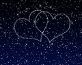 Sky hearts valentine Royalty Free Stock Photography