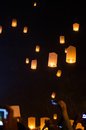 Sky lantern chiangmai thailand Royalty Free Stock Photo