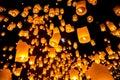 Sky Lantern Royalty Free Stock Photo