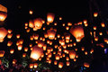 Sky lanterns in Lantern Festival Royalty Free Stock Photo