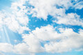 Sky light cloud and blue Royalty Free Stock Images