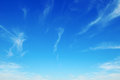 Sky with light clouds beautiful blue Royalty Free Stock Photo