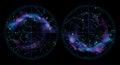 Sky map illustration