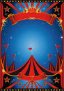 Sky night circus poster of a by Royalty Free Stock Photos
