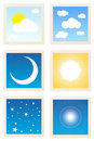 Sky Object Stamp Icons Royalty Free Stock Photo
