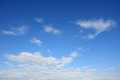Sky over horizon and white clouds Stock Image