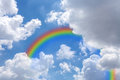 Sky with rainbow, Royalty Free Stock Photo