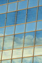 Sky reflecting in windows the of a modern administration building Stock Photography