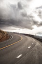 Sky Road Curve Royalty Free Stock Photography