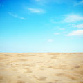 Sky and sand beautiful sea on sunny day with blue Royalty Free Stock Photography