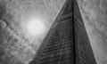 Sky scraper in black and white Royalty Free Stock Photography