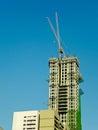 Sky Scraper Under Construction Royalty Free Stock Photo