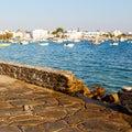 Sky and sea in the island of greece santorini mediterranean ocea ocean nature tree Royalty Free Stock Photos