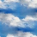 Sky seamless cloud blue wallpaper texture Royalty Free Stock Photo