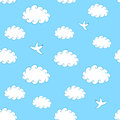 Sky Seamless Pattern Stock Photo