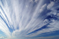 Sky spindrift clouds on blue Royalty Free Stock Image