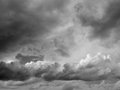 Sky with storm dark clounds Royalty Free Stock Photo