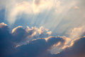 Sky with sunray and cloud sunbeam Royalty Free Stock Image