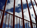 Sky Though Bars Royalty Free Stock Photo