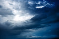 Sky before a thunderstorm Royalty Free Stock Photo