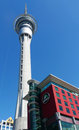 Sky tower in auckland new zealand january on january it is meters ft tall making it the tallest free standing Royalty Free Stock Image