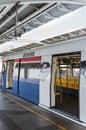 Sky train opening empty door is Stock Images