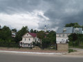 Sky the view of a street in old russian city kasimov Royalty Free Stock Photography