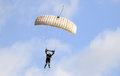 A skydiver performing skydiving with parachute Royalty Free Stock Photo
