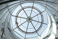 Skylight architectural structure detail against blue sky Stock Images