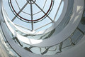 Skylight architectural structure detail against blue sky Royalty Free Stock Photo