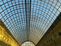 Skylight glass roof with sky trough it Royalty Free Stock Image
