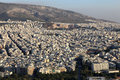 Skyline of Athens city Royalty Free Stock Photos