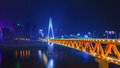 The skyline bridge over the Jialing river Landmark of Chongqing Royalty Free Stock Photo