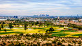 The skyline of the city of Phoenix in the Valley of the Sun Royalty Free Stock Photo