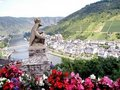 Skyline of Cochem Stock Photo