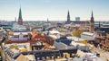 Skyline of Copenhagen city in Denmark