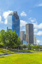 Skyline de houston texas Imagem de Stock