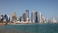 Skyline of Doha downttown. Qatar Royalty Free Stock Photo