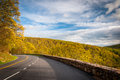 Skyline Drive and spring color in the Blue Ridge Mountains, in S Royalty Free Stock Photo