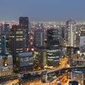 Skyline e tráfego de osaka japan Fotos de Stock