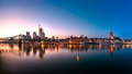 Skyline, Eiserner Steg, Frankfurt am Main Royalty Free Stock Photo