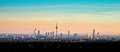 Skyline of Frankfurt am Main during sunset Royalty Free Stock Photo
