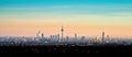 Skyline of Frankfurt am Main during sunset Royalty Free Stock Photo