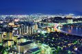 Skyline fukuoka japan night Royalty Free Stock Images